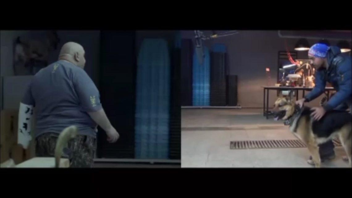 """تصاویری از حضور """"شارون"""" در نقش هایکو (بازیگر سگ) در پشت صحنه فیلم سینمایی کوپال"""